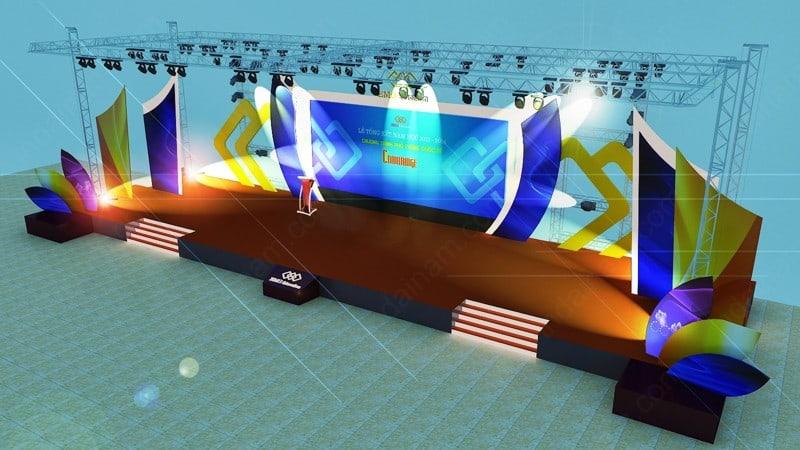 thi công backdrop sân khấu sự kiên thi công backdrop tphcm