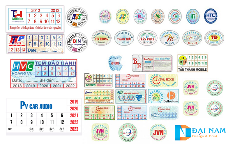 In tem bảo hành nhanh giá rẻ