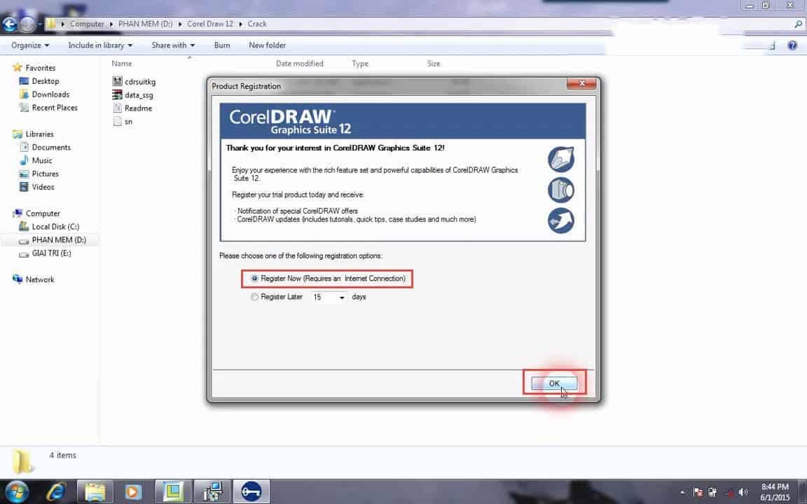 bước 7 cài đặt CorelDraw 12 Full Crack